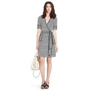 Brand New DVF Faith Striped Wrap Dress